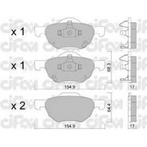 CIFAM 8227300 Комплект тормозных колодок, дисковый тормоз