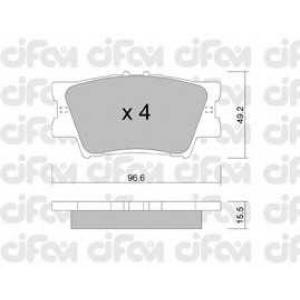CIFAM 8227490 Комплект тормозных колодок, дисковый тормоз