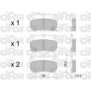CIFAM 8227610 Комплект тормозных колодок, дисковый тормоз