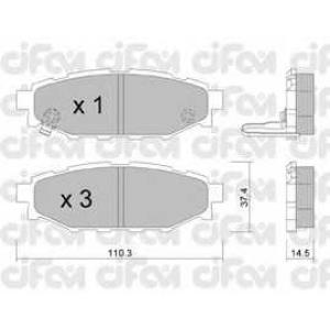 CIFAM 822-764-0 Колодка торм. SUBARU LEGACY IV задн. (пр-во Cifam)