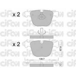 CIFAM 8227730 Комплект тормозных колодок, дисковый тормоз