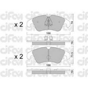 CIFAM 8227750 Комплект тормозных колодок, дисковый тормоз