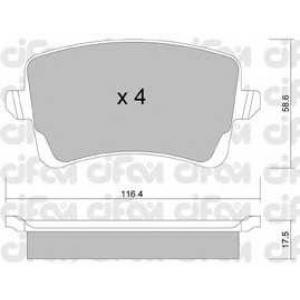 CIFAM 8227760 Комплект тормозных колодок, дисковый тормоз