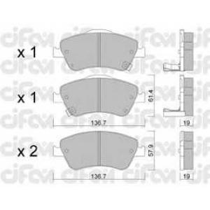 CIFAM 8227940 Комплект тормозных колодок, дисковый тормоз