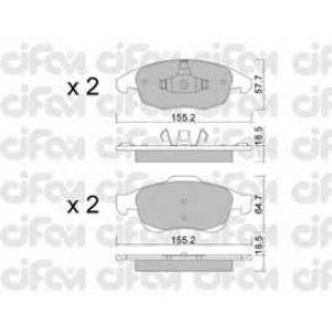 CIFAM 8228000 Комплект тормозных колодок, дисковый тормоз