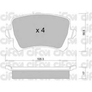 CIFAM 8228060 Комплект тормозных колодок, дисковый тормоз