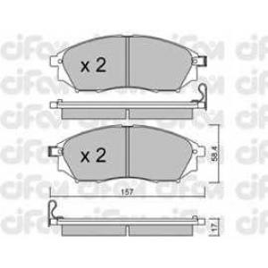 CIFAM 8228190 Комплект тормозных колодок, дисковый тормоз