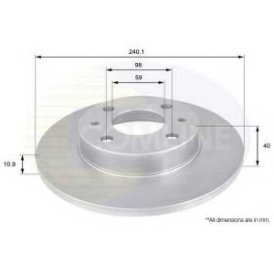 COMLINE ADC1801 Тормозной диск Фиат