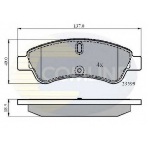 COMLINE CBP01033 Brake Pad
