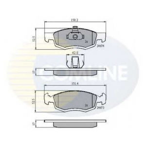 COMLINE CBP01791 Brake Pad