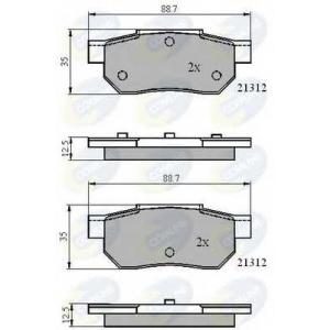 COMLINE CBP0460 Комплект тормозных колодок, дисковый тормоз Акура
