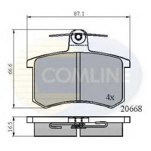 COMLINE CBP0558 Комплект тормозных колодок, дисковый тормоз Ауди В8