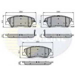 COMLINE CBP31676 Комплект тормозных колодок, дисковый тормоз Хюндай Генезис