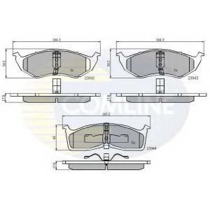 COMLINE CBP3850 Комплект тормозных колодок, дисковый тормоз Додж Караван