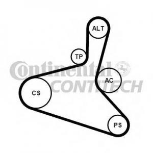 CONTITECH 6DPK1195K2 Комплект клиновых ремней (с роликами)