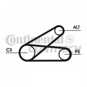 CONTITECH 6PK873 ELAST T1 Поликлиновой ременный комплект