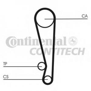 Ремень ГРМ ct1024 contitech - MAZDA 121 I (DA) Наклонная задняя часть 1.1
