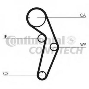 CONTITECH CT1048 Ремень ГРМ (Пр-во Contitech)