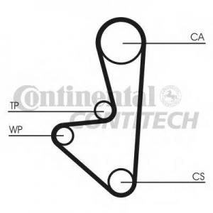 Ролик натяжной CITROEN, FIAT (пр-во Ruville) ct1067wp1 contitech -
