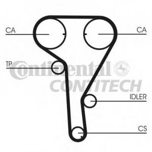 CONTITECH CT1077K1 Комплект ГРМ A/Z16XEP/ XER