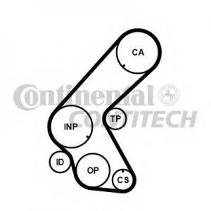 Ремень ГРМ ct1078 contitech - HONDA CIVIC VII Hatchback (EU, EP, EV) Наклонная задняя часть 1.7 CTDi