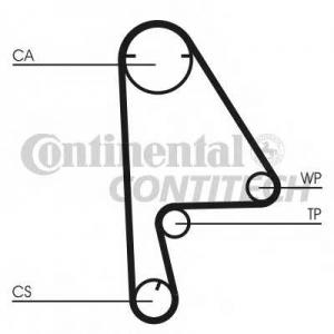 CONTITECH CT1082 Ремінь зубчатий CT1082 Z=104 Conti