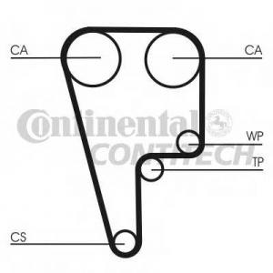 CONTITECH CT1102 Ремінь зубчатий CT1102 Z=155 Conti