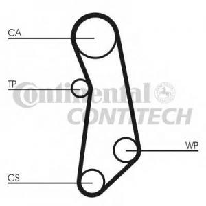 Комплект (ремень + ролик + водяной насос) ct1115wp1 contitech -