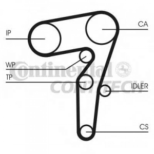 CONTITECH CT1155 Ремінь зубчатий CT1155 Z=194 Conti
