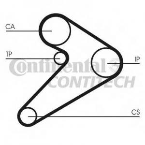 CONTITECH CT517 Ремінь зубчатий CT517 Z=163 Conti