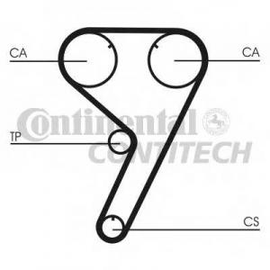 CONTITECH CT608 Ремінь зубчатий CT608 Z=142 Conti