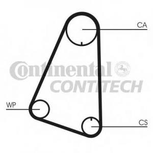 Ремень ГРМ ct633 contitech - AUDI 50 (86) Наклонная задняя часть 1.1