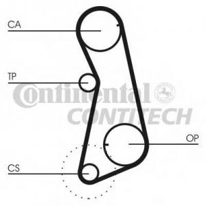 Комплект ремня ГРМ ct637k1 contitech - AUDI 80 (80, 82, B1) седан 1.3