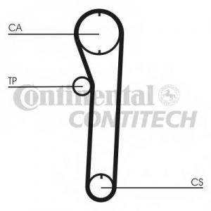 CONTITECH CT680 Ремінь зубчатий CT680 Z=88 Conti