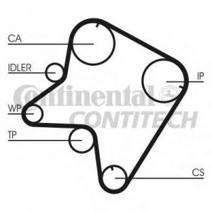 CONTITECH CT762 Ремень зубчатый ГРМ (Пр-во ContiTech)
