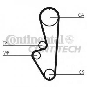 CONTITECH CT765 Ремень зубчатый ГРМ (Пр-во ContiTech)