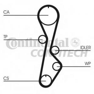 CONTITECH CT774 Ремінь зубчатий CT774 Z=110 Conti