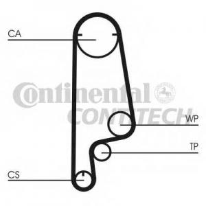 CONTITECH CT799 Ремінь зубчатий CT799 Z=113 Conti