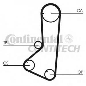 CONTITECH CT801 Ремінь зубчатий CT801 Z=123 Conti