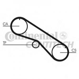 CONTITECH CT818 Ремінь зубчатий CT818 Z=94 Conti