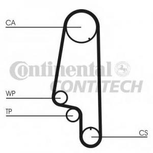 CONTITECH CT847 Ремінь зубчатий CT847 Z=137 Conti