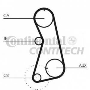 CONTITECH CT848 Ремень зубчатый ГРМ (Пр-во ContiTech)