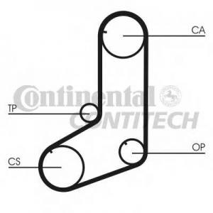 CONTITECH CT911 Ремінь зубчатий CT911 Z=122 Conti