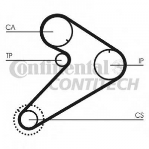 CONTITECH CT921 Ремень зубчатый ГРМ (Пр-во ContiTech)