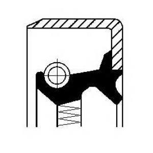 Уплотняющее кольцо, ступица колеса 01017573b corteco - MERCEDES-BENZ 190 (W201) седан E Evolution II 2.5