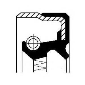 CORTECO 01026327B Сальник ступицы MB SPRINTER 55X75X8 NBR B1BASLDRW (пр-во Corteco)
