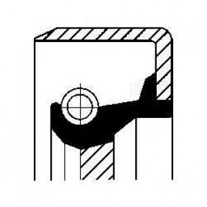 12017369b corteco Уплотняющее кольцо, ступенчатая коробка передач FORD FIESTA Наклонная задняя часть 0.9