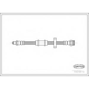 CORTECO 19018119 Тормозной шланг