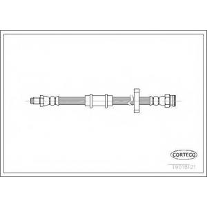 CORTECO 19018121 Тормозной шланг