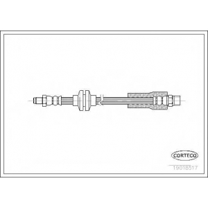 CORTECO 19018517 Тормозной шланг